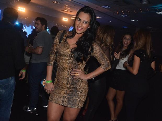 Ex-BBB Kelly em show em São Paulo (Foto: Caio Duran/ Ag. News)