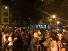 Manifestantes se reúnem na Zona Sul do Rio contra o governo de Temer