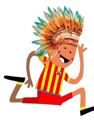 Mascote Barcelona de Vilhena - Catalão (Foto: Barcelona de Vilhena/Divulgação)