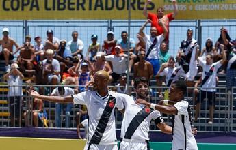 Vasco goleia Punta Hermosa e decide  Libertadores contra o Rosario Central
