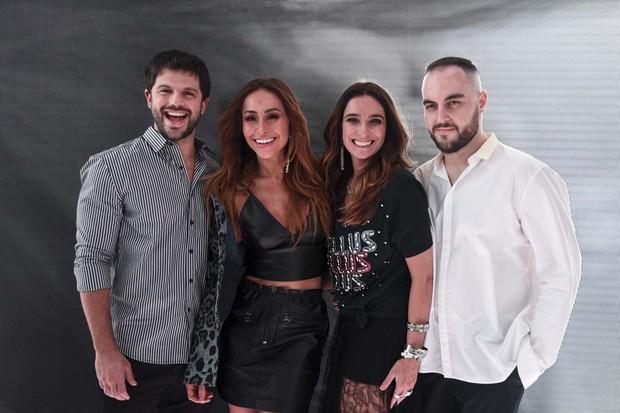 Duda Nagle, Sabrina Sato, Adriana Bozon e Rodolfo Souza (Foto: Lu)