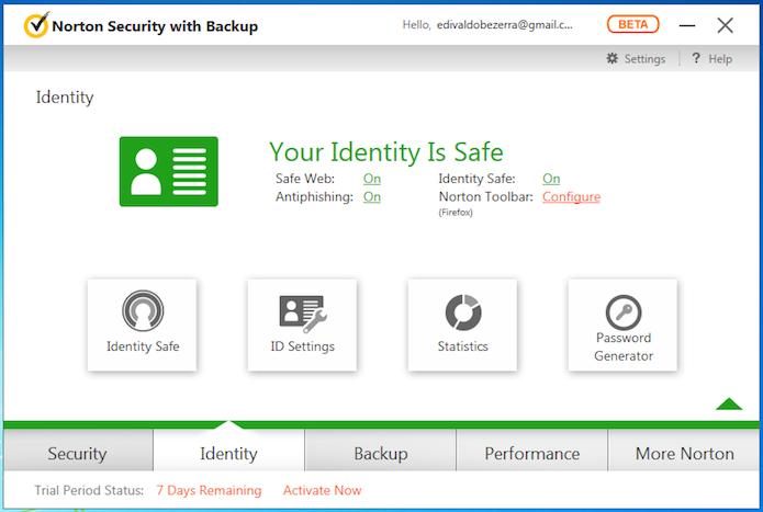 Identity guarda as opções relacionadas prevenção de roubo de identidade (Foto: Reprodução/Edivaldo Brito)