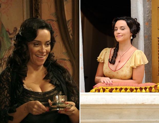 A personagem usa os cabelos soltos nas cenas mais íntimas. Na janela, é sempre preso (Foto: Gabriela/TV Globo)