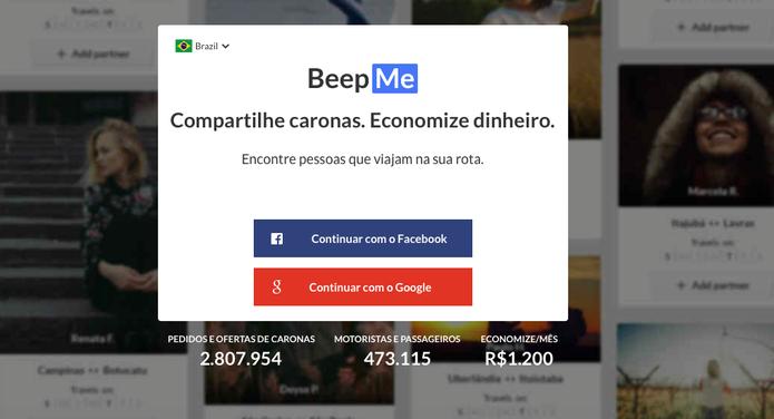 O app BeepMe propõe ao usuário ir de carona para economizar gasolina e ainda ajudar o planeta (Reprodução/ Gabriella Fiszman)