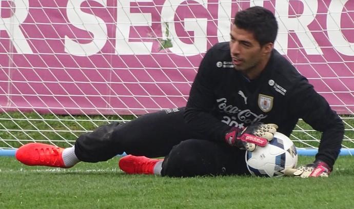 Luis Suárez uruguai treino (Foto: Reprodução/Twitter)