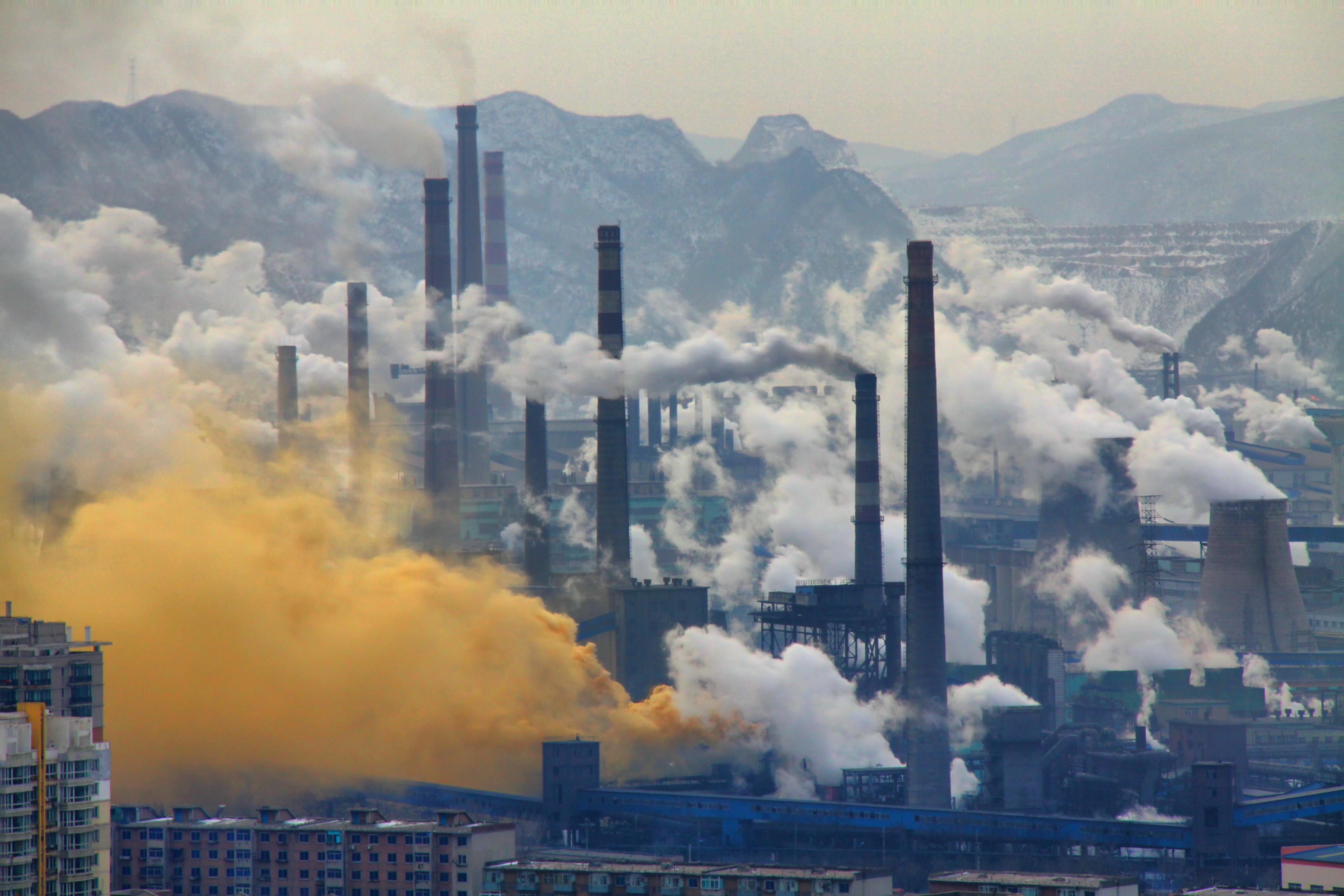 Indústria de aço localizada em Benxi, na China (Foto: Wikimedia Commons)