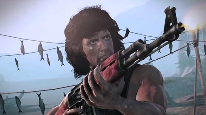 Até Rambo parece entediado nesse jogo e ele está disparando com uma AK-47 (Foto: Game Informer)