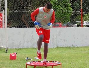 Andrey - goleiro do América-RN (Foto: Edmo Nathan/Divulgação)