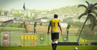 Jogador brasileiro em campo de treinamento no Copa do Mundo da FIFA Brasil 2014 (Foto: Divulgação/EA)