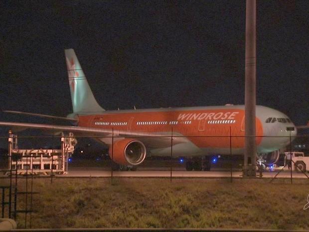 Aviões usados pela TAP têm símbolo da Windrose (Foto: TV Verdes Mares/Reprodução)