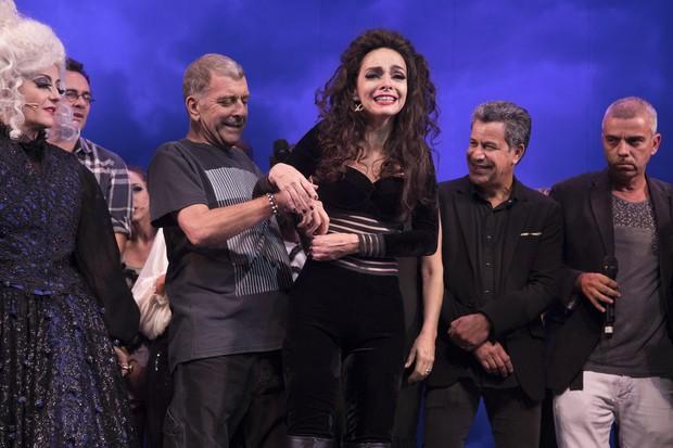 Jorge Fernando e Claudia Ohana em estreia de peça no Rio (Foto: Felipe Panfili/ Divulgação)