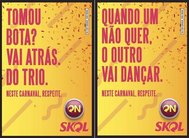 Novos cartazes foram divulgados pela Ambev nesta sexta-feira (13) (Foto: Divulgação)