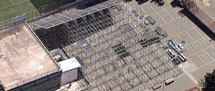 Ampliação do estádio Independência (Foto: Reprodução/ TV Globo Minas)