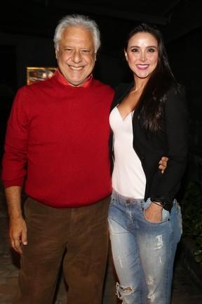 Antônio Fagundes e a namorada, Alexandra Martins, em show em São Paulo (Foto: Manuela Scarpa/ Foto Rio News)