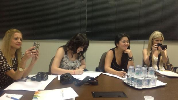 Coletiva Thaissa Carvalho e Suzana Pires (Foto: Divulgação/RPC TV)