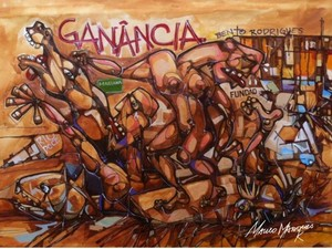 Uma das obras exposta é do artista Mauro Marques Kersul (Foto: Divulgação)