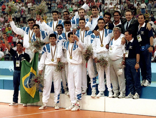 vôlei barcelona 1992 brasil final medalha olímpica (Foto: Fábio M. Salles / Agência Estado)