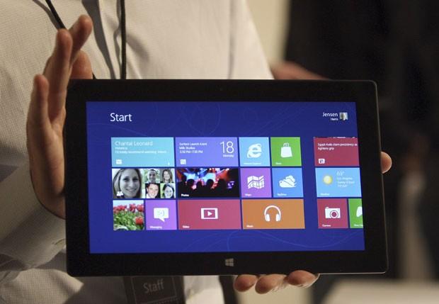Microsoft aposta suas fichas no Surface, seu tablet, com mais de 30 games para o lançamento do aparelho e do Windows 8 (Foto: Reuters)