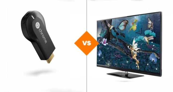 Chromecast ou Smart TV: qual deles é o melhor? (Foto: arte/ TechTudo)