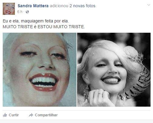 Sandra Mattera no Facebook (Foto: Reprodução / Facebook)