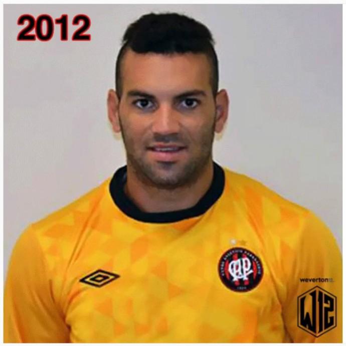Goleiro Weverton do Atlético-PR 2012 (Foto: Reprodução/Instagram)