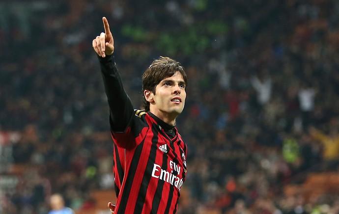 Kaká comemora, Milan x Chievo (Foto: AP)