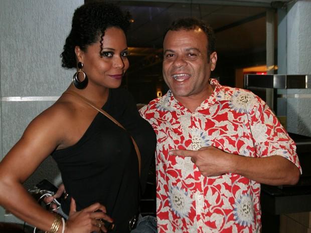 Adriana Bombom e o ex-BBB Daniel em inauguração de restaurante na Zona Oeste do Rio (Foto: Divulgação)