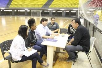 Victor Jacob, Bauru Basquete, Gastão Pinheiro Júnior, secretário Esportes, Marília (Foto: Divulgação)