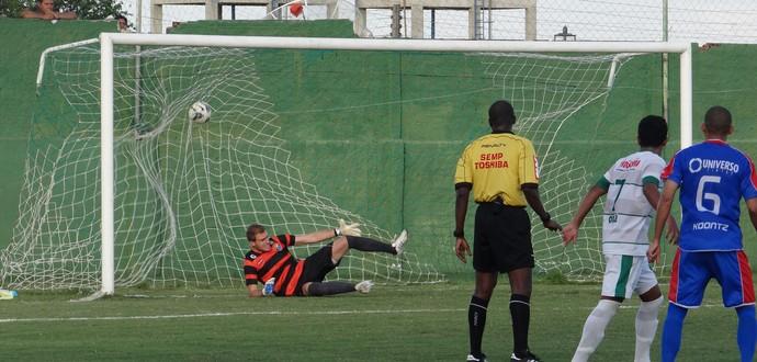 Coruripe x São Caetano, jogo (Foto: Leonardo Freire/GloboEsporte.com)