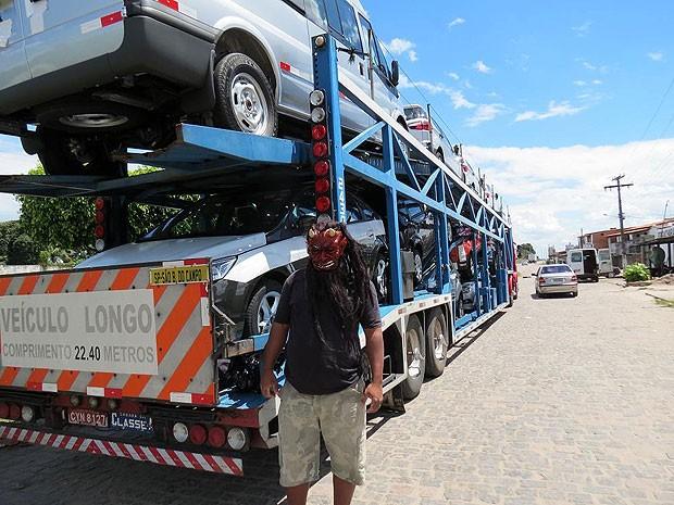 Motorista usando máscara é preso durante feriado prolongado na Bahia (Foto: Divulgação/ PRF)
