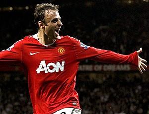 Berbatov comemora gol do Manchester United