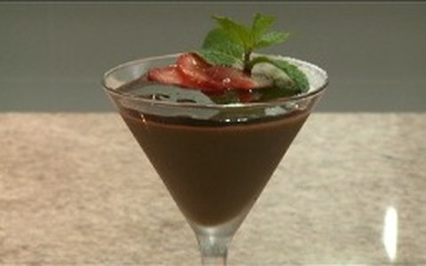Mousse de chocolate com pimenta