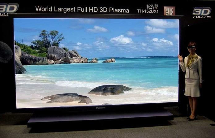 Modelo da Panasonic tem 152 polegadas (Foto: Divulgação/Panasonic)