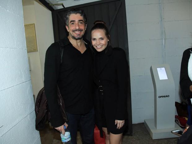 Michel Melamed e Letícia Colin em peça em São Paulo (Foto: Marcos Ribas/ Brazil News)