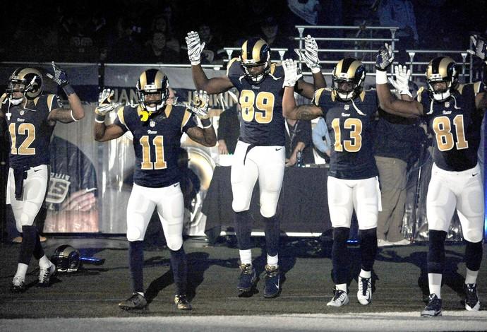 Jogadores St. Louis Rams  (Foto: Agência AP )