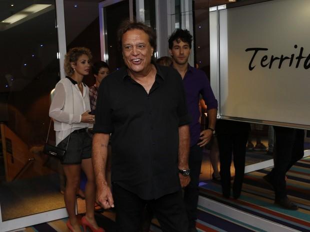 Dennis Carvalho em estreia de peça na Zona Sul do Rio (Foto: Felipe Assumpção/ Ag. News)