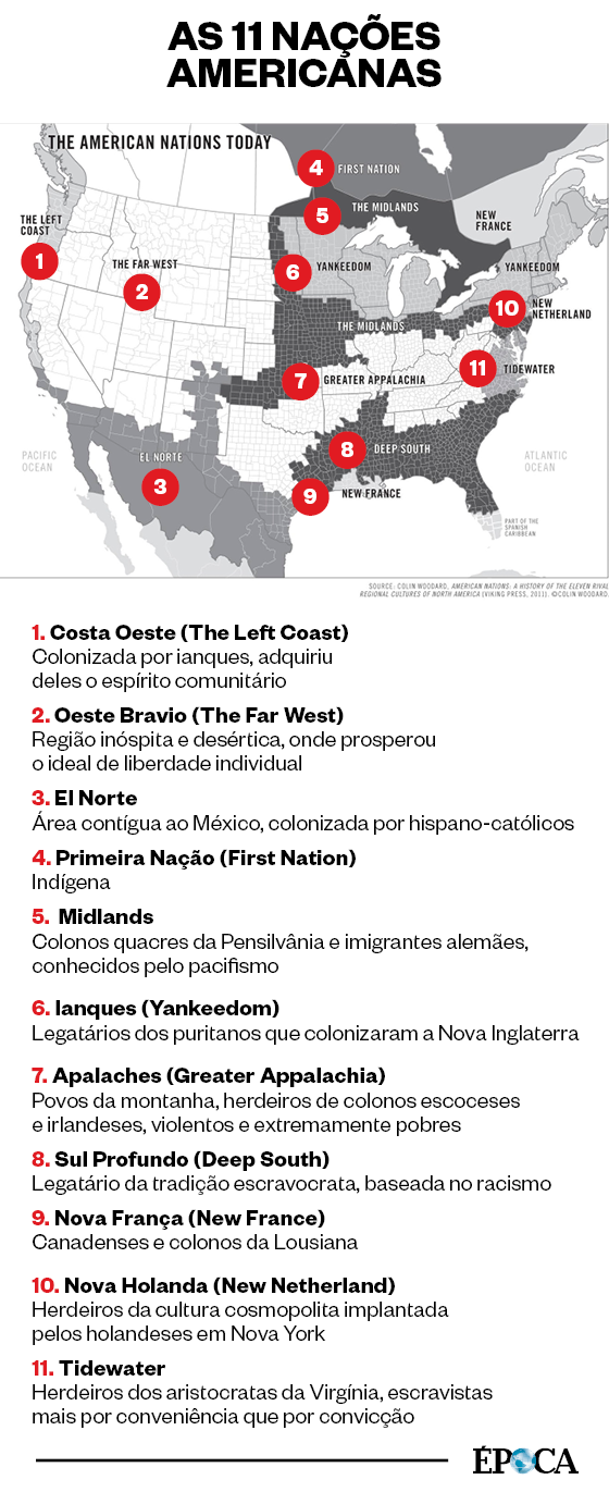As 11 nações  americanas (Foto: As 11 nações  americanas)
