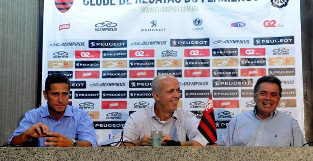 Jorginho Wallim Vasconcellos Paulo Pelaipe flamengo (Foto: Alexandre Vidal / FlaImagem)