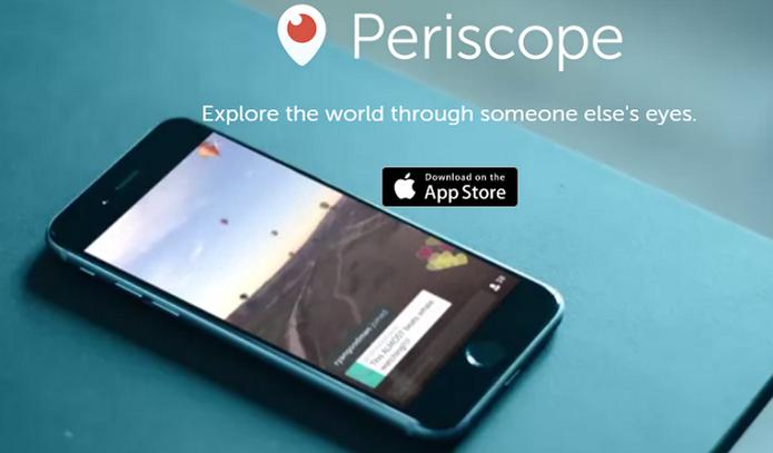 Periscope é o app do Twitter para transmitir vídeos (Foto: Divulgação)
