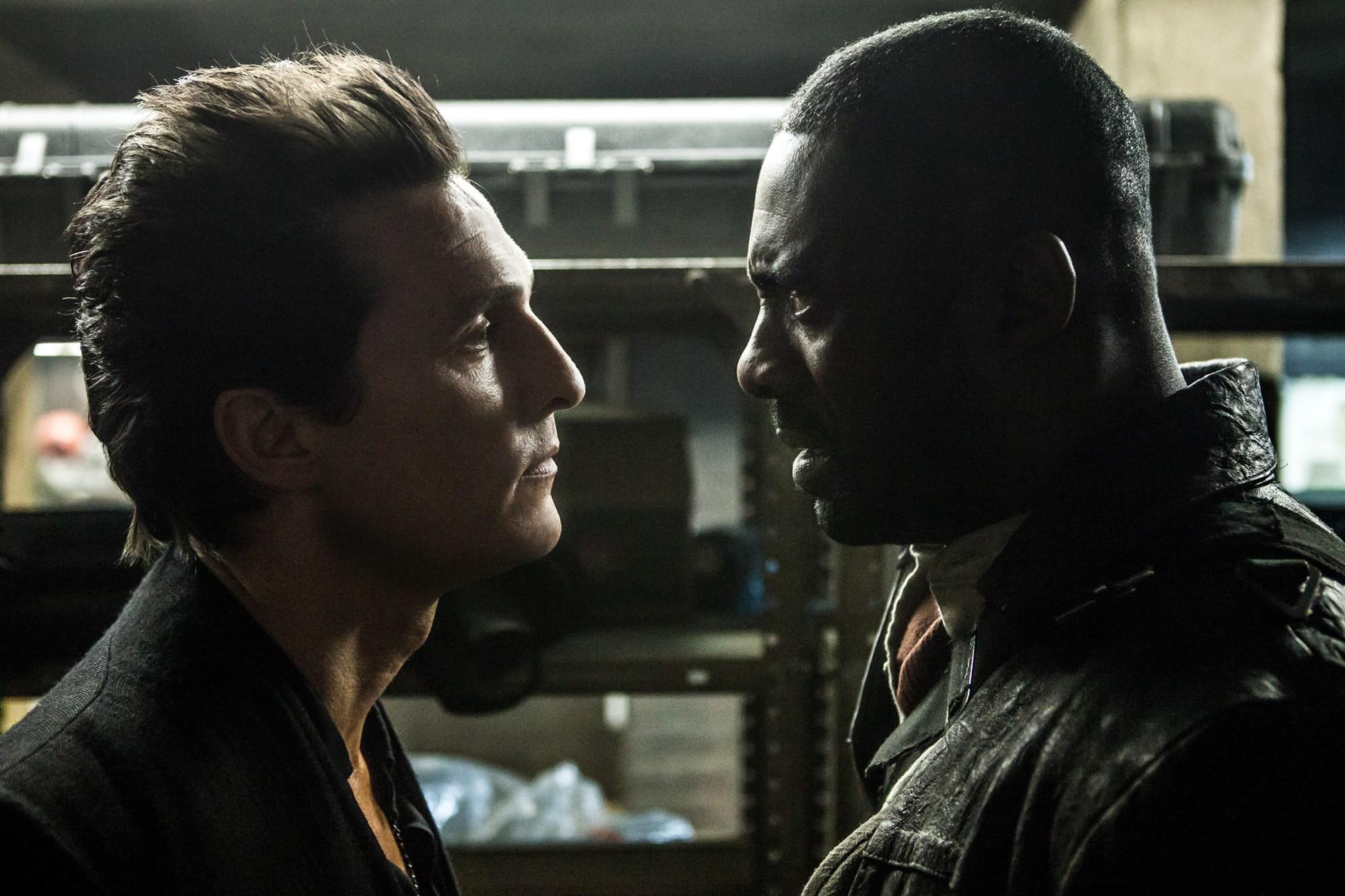 Matthew McConaughey e Idris Elba em 'A Torre Negra' (Foto: divulgação)