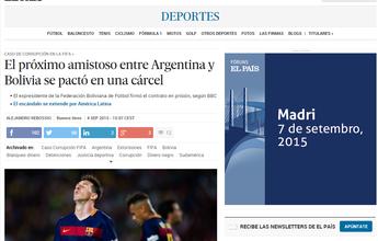 Contrato de amistoso entre Argentina e Bolívia foi assinado em prisão