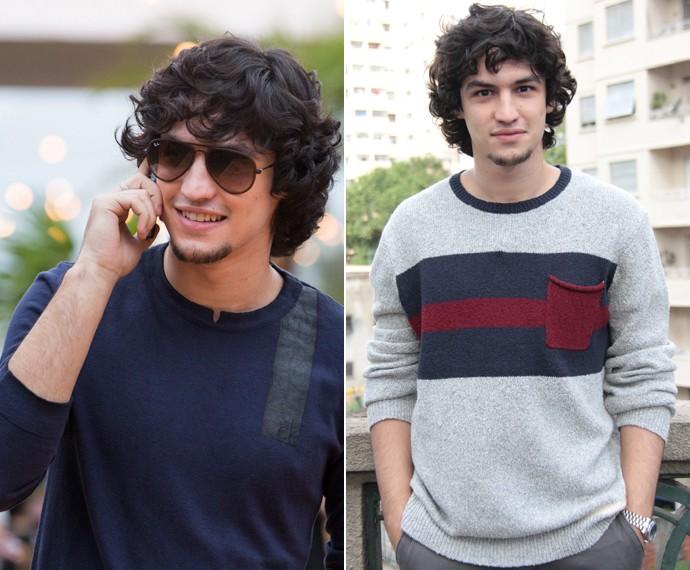 O suéter usado pelo Gui pode servir como camiseta (Foto: Felipe Monteiro / Gshow)