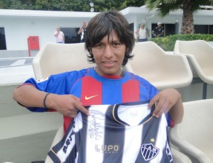 boliviano treino do Atlético-MG treino (Foto: Leonardo Simonini)