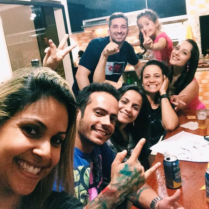 Torcida Willian San'Per The Voice Brasil (Foto: Arquivo pessoal)
