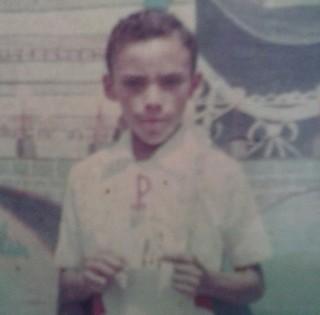 Raimundo Lima quando era criança (Foto: Arquivo pessoal)