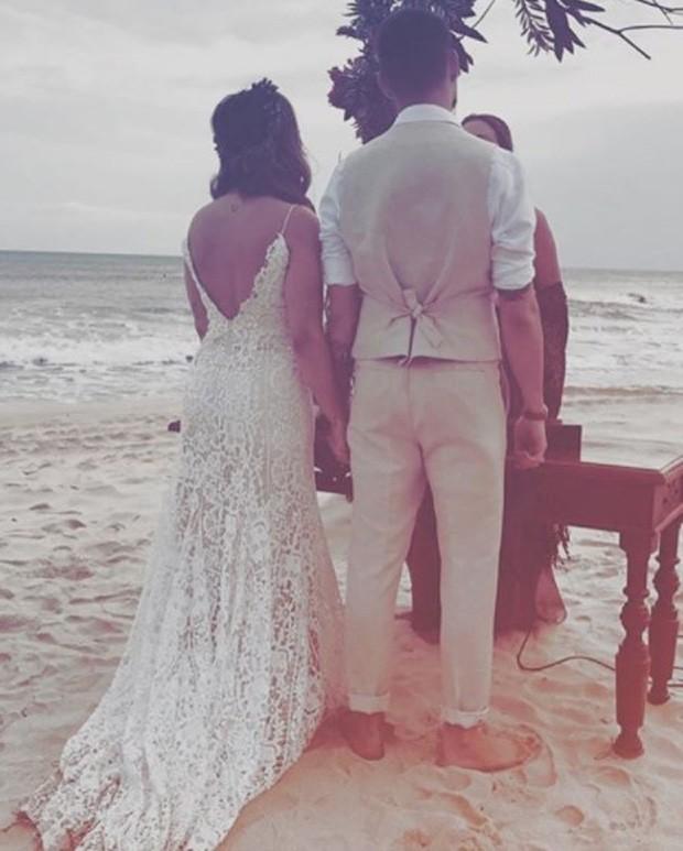Rúbia Baricelli e Henrique Tomaz se casam (Foto: Reprodução/Instagram)