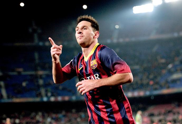 Messi comemoração jogo Barcelona contra Getafe (Foto  AFP) 506ed616f8757