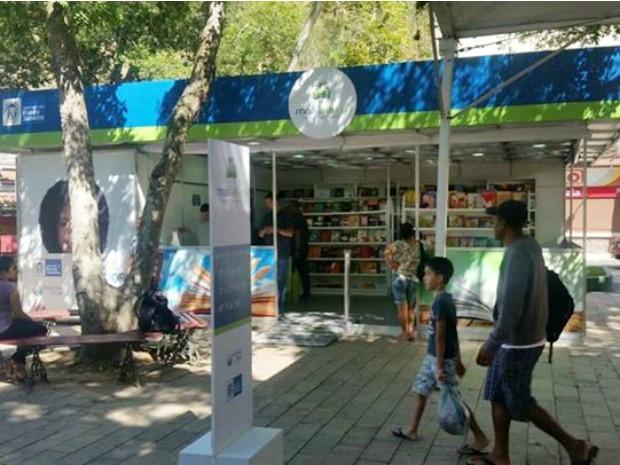Unidade do Projeto Mais Leitura está na Praça da Preguiça (Foto: Divulgação/Governo do Estado do RJ)