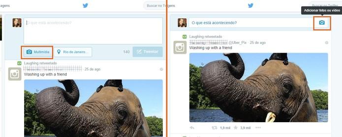 Selecione o ícone de Multimídia ou de câmera no Twitter pelo computador (Foto: Reprodução/Barbara Mannara)