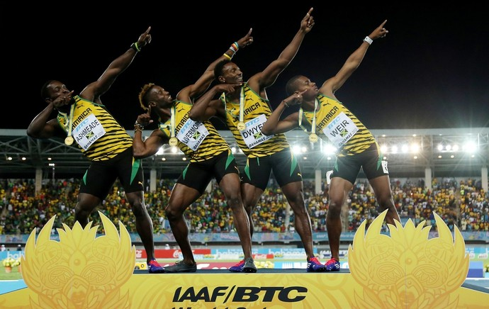 Mundial de revezamentos Jamaica campeã 4x200m  (Foto: Mike Ehrmann / Getty Images)
